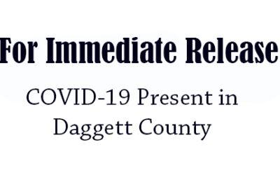 COVID-19 Present in Daggett County